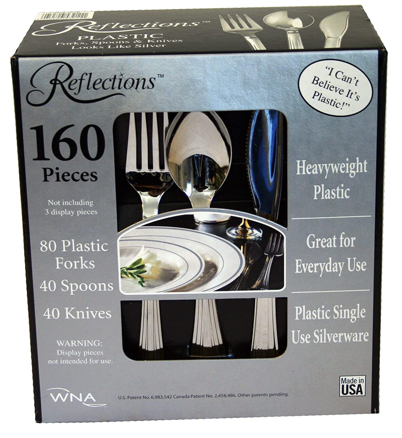 & Amazon.com | Reflections Plastic Silverware 160 Pieces: Flatware Sets