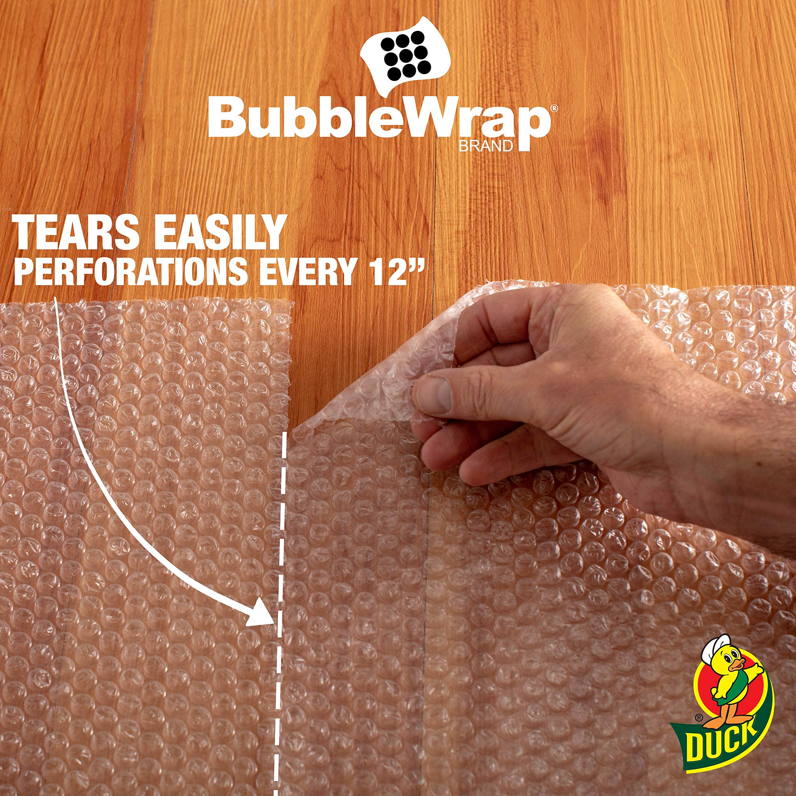 Duck Brand Bubble Wrap Roll, 3/16'' Original Bubble Cushioning, 12'' x 150', Perforated Every 12'' (284054) by Duck (Image #3)