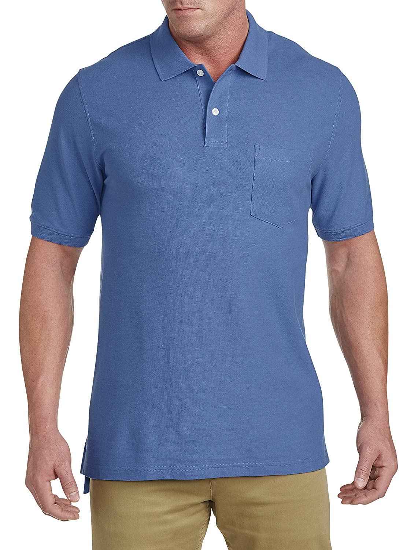 8fb29bf3 Amazon.com: Harbor Bay by DXL Big and Tall Pocket Piqué Polo Shirt: Clothing