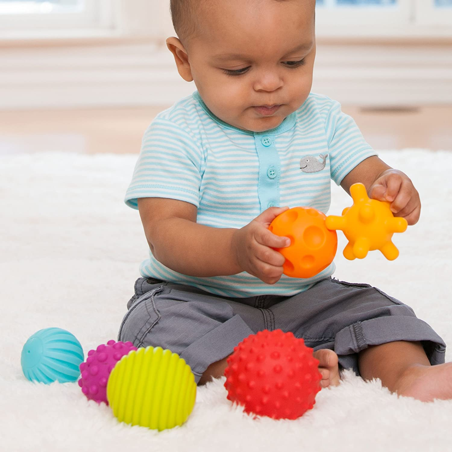 Amazon Infantino Textured Multi Ball Set Baby Touch And