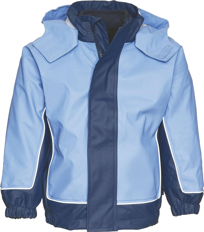 Playshoes Boy's Kids Waterproof with Removable Fleece Jacket Raincoat 408621 Regenjacke 2 in 1