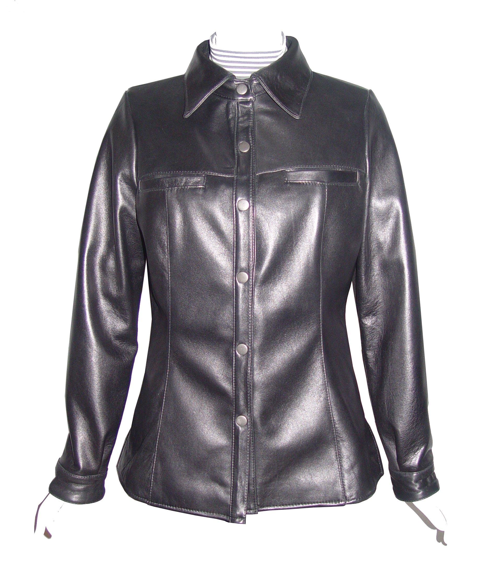 Nettailor 4081 Clean New Lambskin Genuine Leather Shirt Jacket Fine Soft Lamb