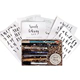 Brush Lettering Calligraphy Kit • Award-Winning Starter Set for Beginners • Includes Instruction Book, Tracing Pad & Supplies