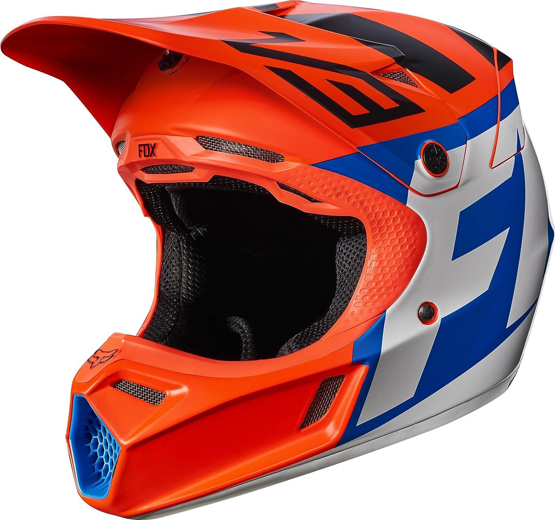 Fox V3 Helmet >> Fox Racing Creo Youth V3 Motocross Motorcycle Helmets Orange Medium