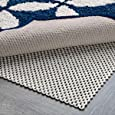 Non Slip Rug Pad Size 8' X 10' For Hard Surface Floors Extra Strong Grip Thick Padding And
