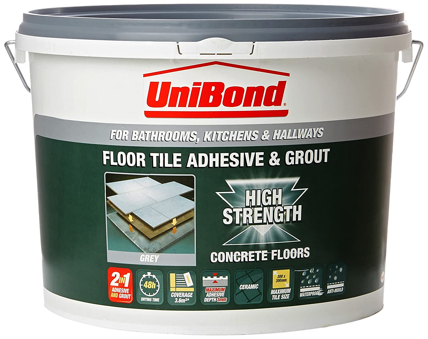 Unibond 1535346 floor tile adhesive and grout grey amazon unibond 1535346 floor tile adhesive and grout grey amazon diy tools dailygadgetfo Gallery