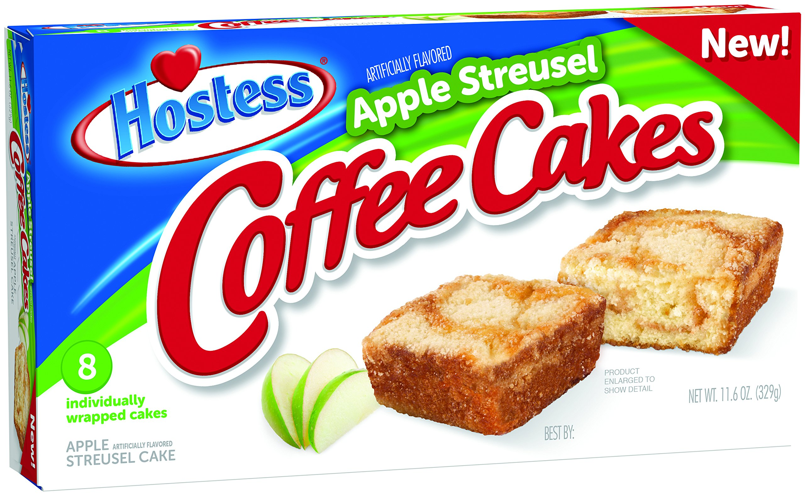 Hostess Coffee Cakes, Apple Streusel, 8 Count (Pack of 6) by Hostess