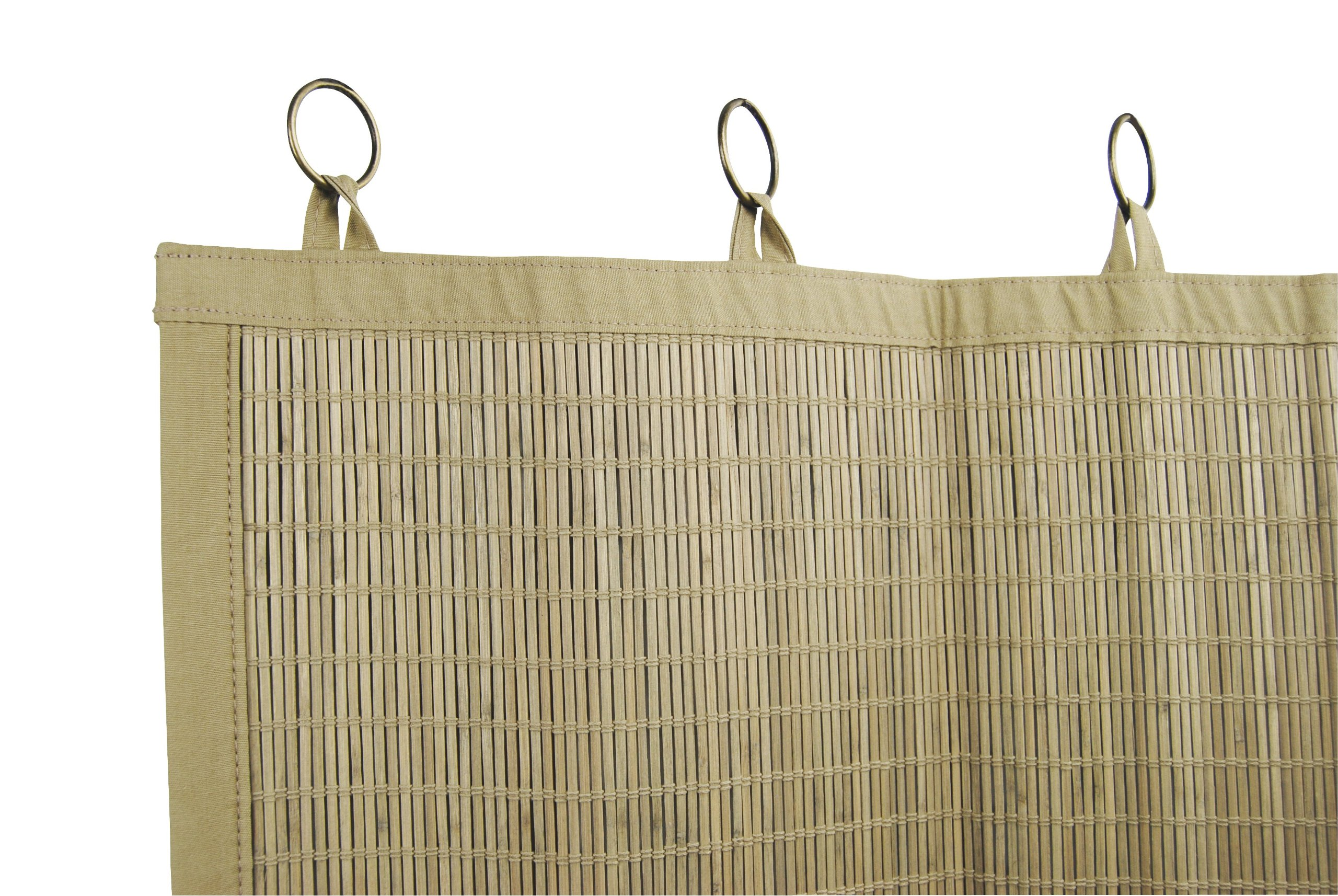 Bamboo Ring Top Curtain BRP05 2-Piece Ring Top Tier Set, 48 by 24-Inch, Driftwood by Bamboo (Image #3)