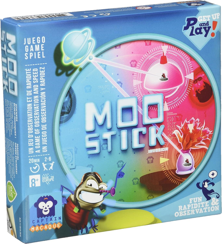 Asmodee- Moo Stick - español - Frances, Color (Captain Macaque MOO01ML): Amazon.es: Juguetes y juegos