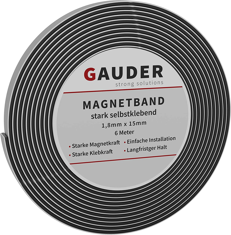 GAUDER Cinta Magnética Autoadhesiva | Banda Imantada con Extra Fuerte Adhesivo | Tira de Imán: Amazon.es: Bricolaje y herramientas