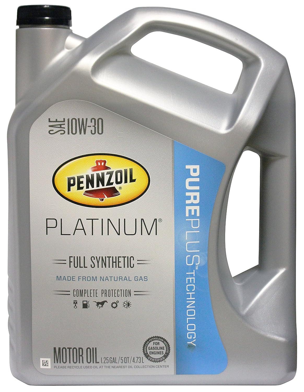 Amazon.com: Pennzoil 550038321 Platinum SAE 10W-30 Full Synthetic ...
