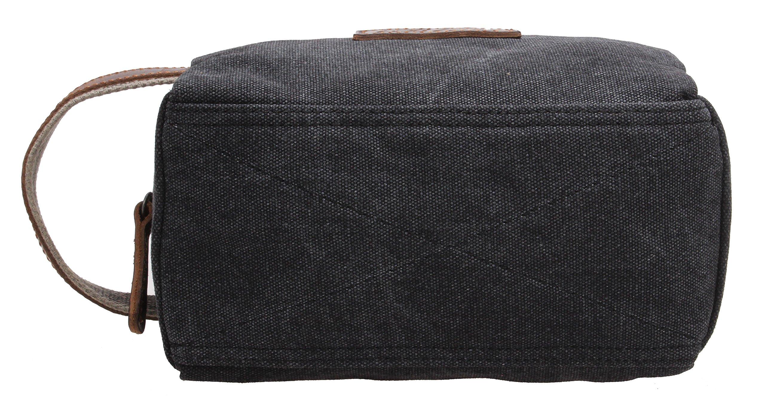 Canvas Travel Toiletry Organizer Shaving Dopp Kit Cosmetic Makeup Bag 9 Inch #B4 (grey) by OMAROA (Image #5)