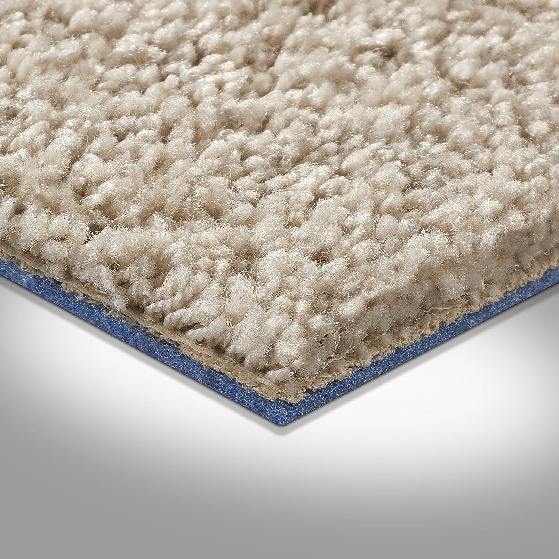 Meterware 400 und 500 cm Breite Gr/ö/ße: 1 Muster Teppichboden Auslegware hell-beige verschiedene Gr/ö/ßen Hochflor Langflor