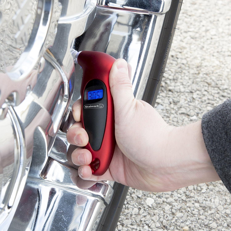 150 PSI Stalwart 75-PT1007 Digital Tire Pressure Gauge for Car Truck or Bike