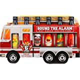 Thoughtfully Gifts, Sound the Alarm Fire Truck Hot Sauce Gift Set, Flavors Include Sweet & Spicy, Garlic Hot Sauce…