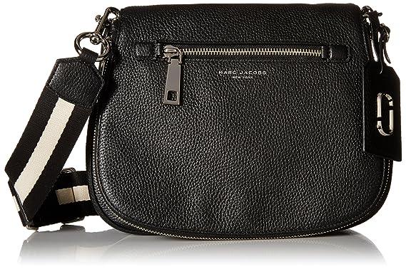 Amazon.com  Marc Jacobs Gotham Saddle Bag, Black  Clothing 663bba140d3