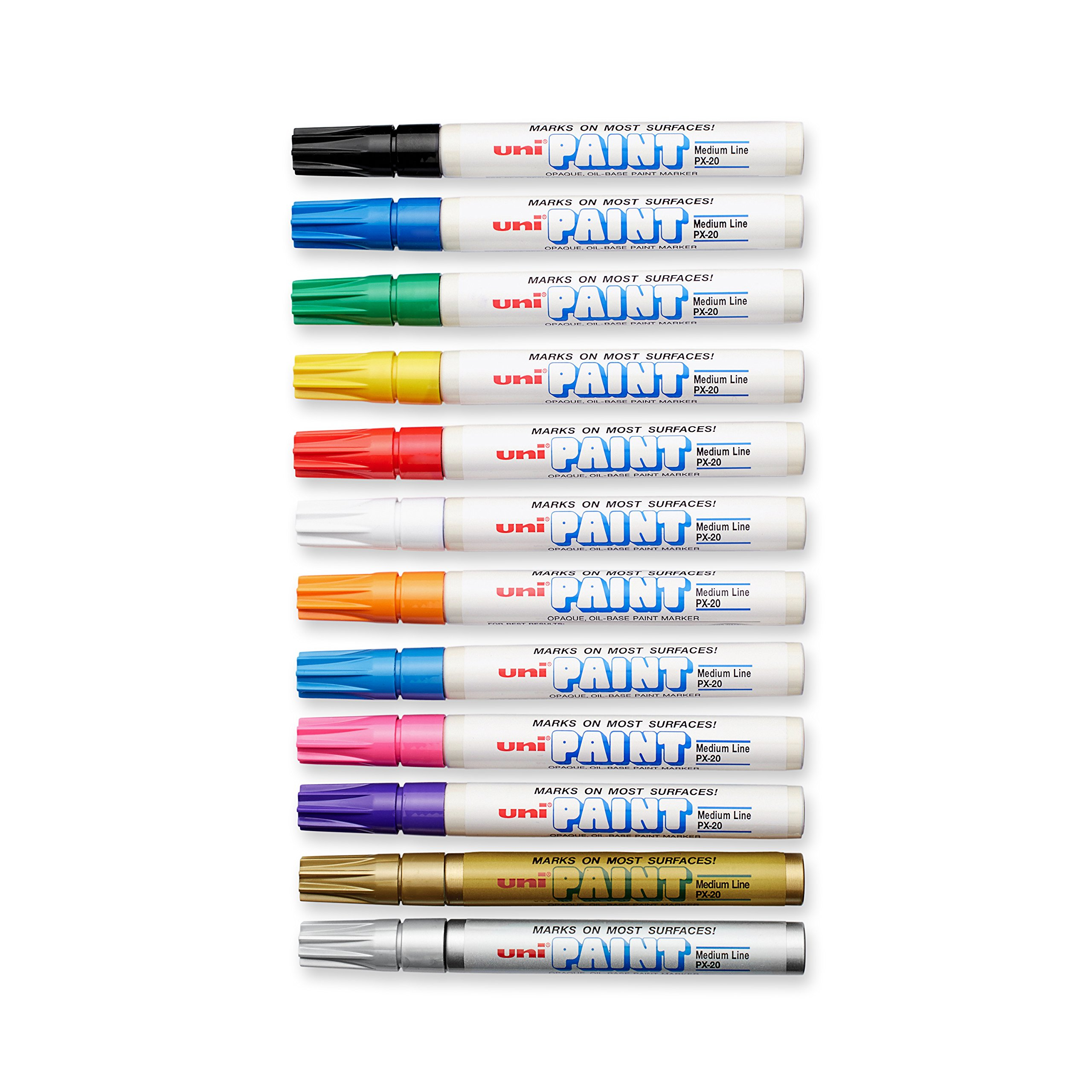 Uni-Paint Markers, Medium Point, Assorted Colors, 12-Count by Rolodex
