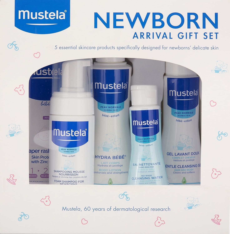 Amazon.com: Mustela Newborn Arrival Gift Set, Baby Bathtime & Skin ...