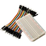 BreadBoard + ZipWire Kit, BB400 Solderless Plug-in BreadBoard plus ZW-MM-10 ZipWires (40x 10cm wires)