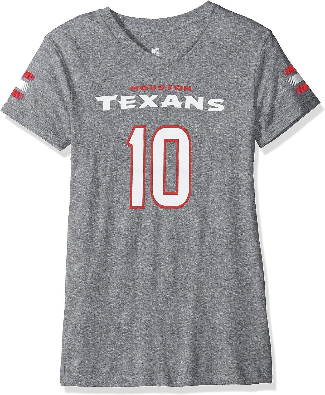 Outerstuff NFL Girls Main Stripes Player Short Sleeve Tee