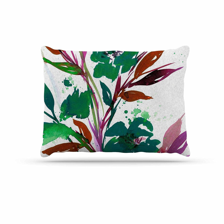 KESS InHouse EBI Emporium Pocket Full of Posies Teal Green Pink Dog Bed, 30  x 40