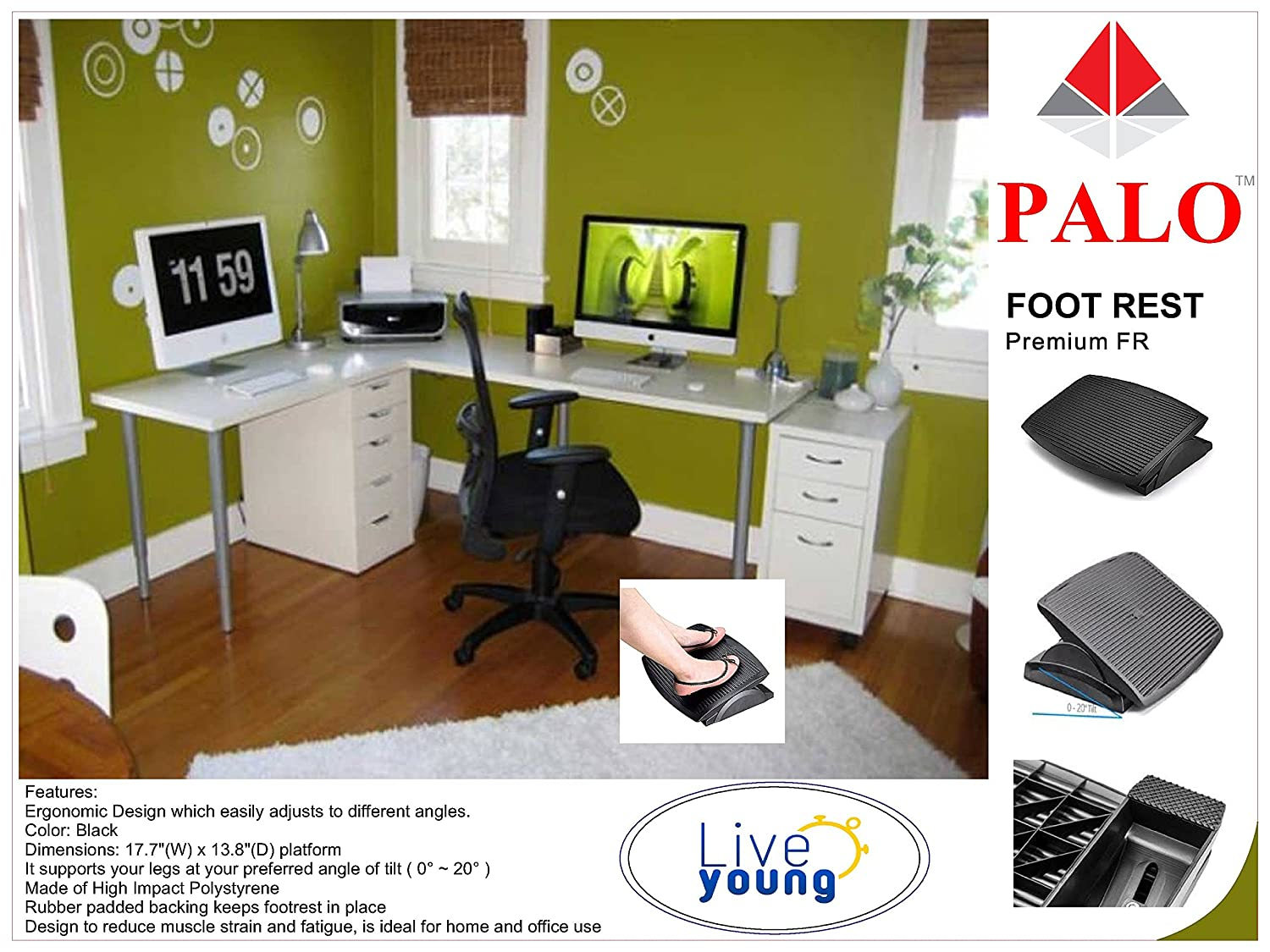 decorative for footstool office depot ideas desk foot under dimensions footrest in rest x