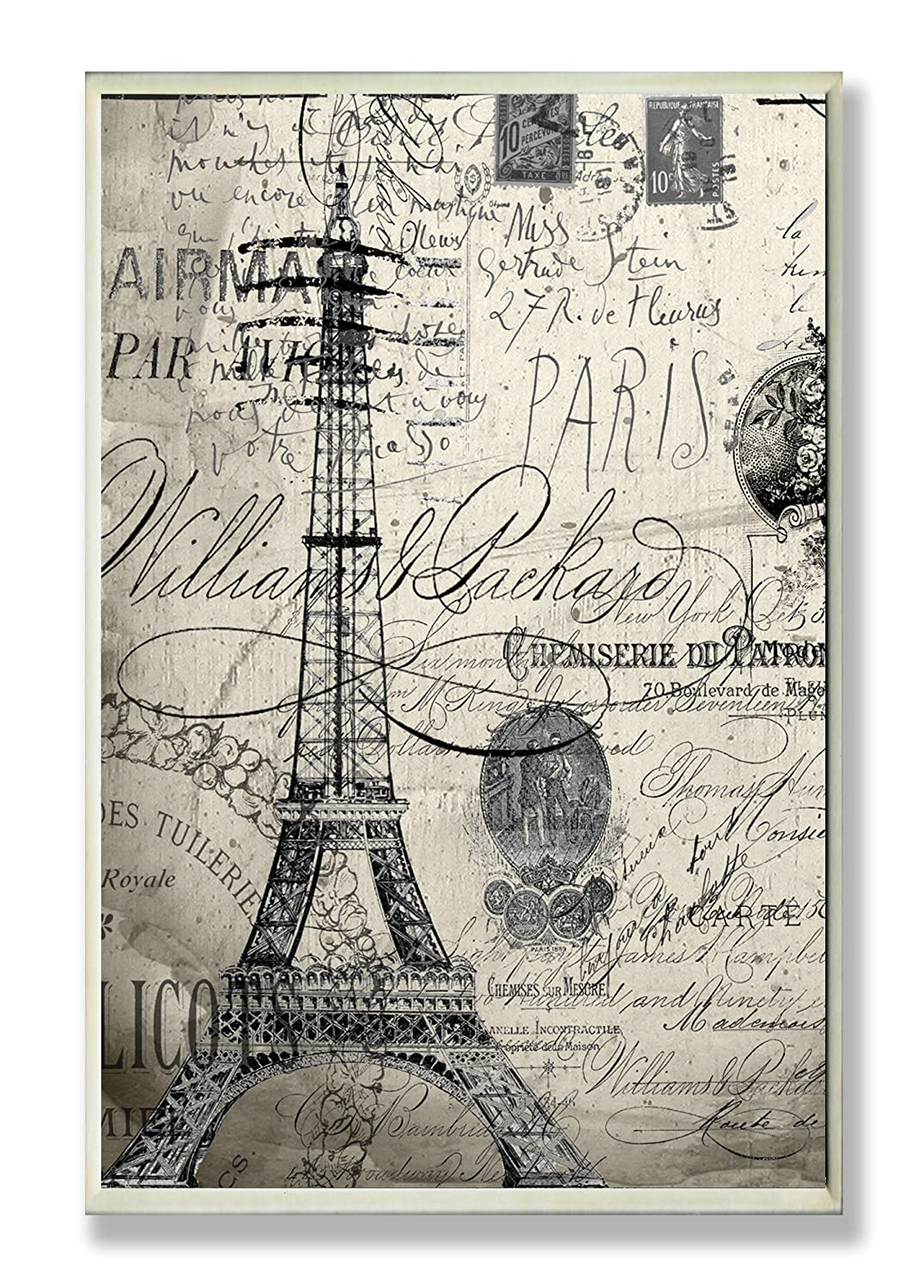Stupell Home Paris Typography Wall Plaque