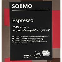 Marchio Amazon- Solimo  Capsule Espresso, compatibili Nespresso* - caffè certificato UTZ, 100 capsule (2 x 50)