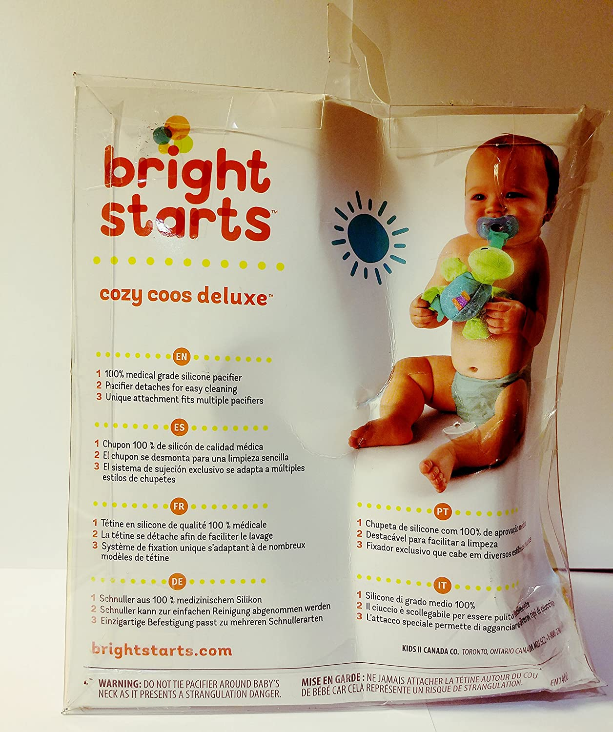 Bright Starts Cozy Coos Pacifier Lovie - Frog