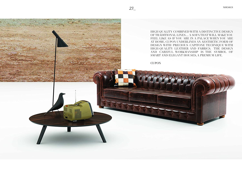 Amazon.com: Cupon Sofa 3 seater-Brown-Leather B: Kitchen ...