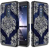 ZTE Zmax Pro Case, TownShop Moroccan Floral Design Hard Impact Dual Layer Shockproof Bumper Case For ZTE Grand X Max 2/ Imperial Max Z963U/ Zmax Pro/ ZTE Kirk Z988/ ZTE Max Duo 4G