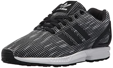 2e008a956ee625 adidas Originals Men s ZX Flux Fashion Sneaker Black White