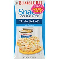 Bumble Bee Snack on the Run Tuna Salad with Crackers, 3.5 Ounce, 3 Count