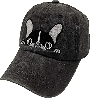 Waldeal Men S Embroidered Boston Terriers Hat Vintage Washed Dad Cap Black At Amazon Men S Clothing Store