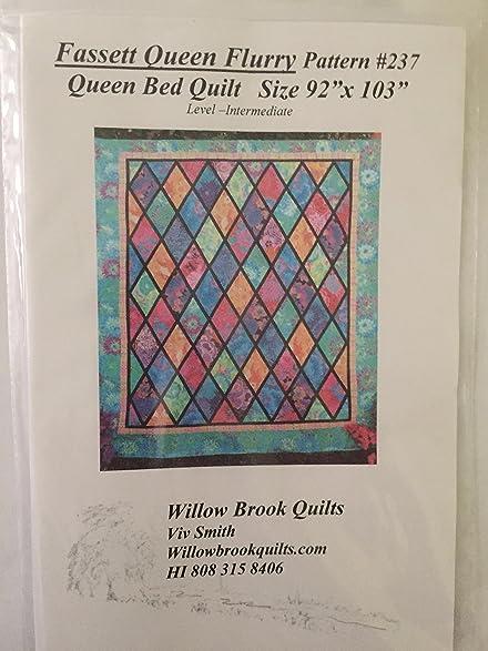 Amazon.com: Fassett Queen Flurry Bed Quilt Pattern : flurry quilt pattern - Adamdwight.com