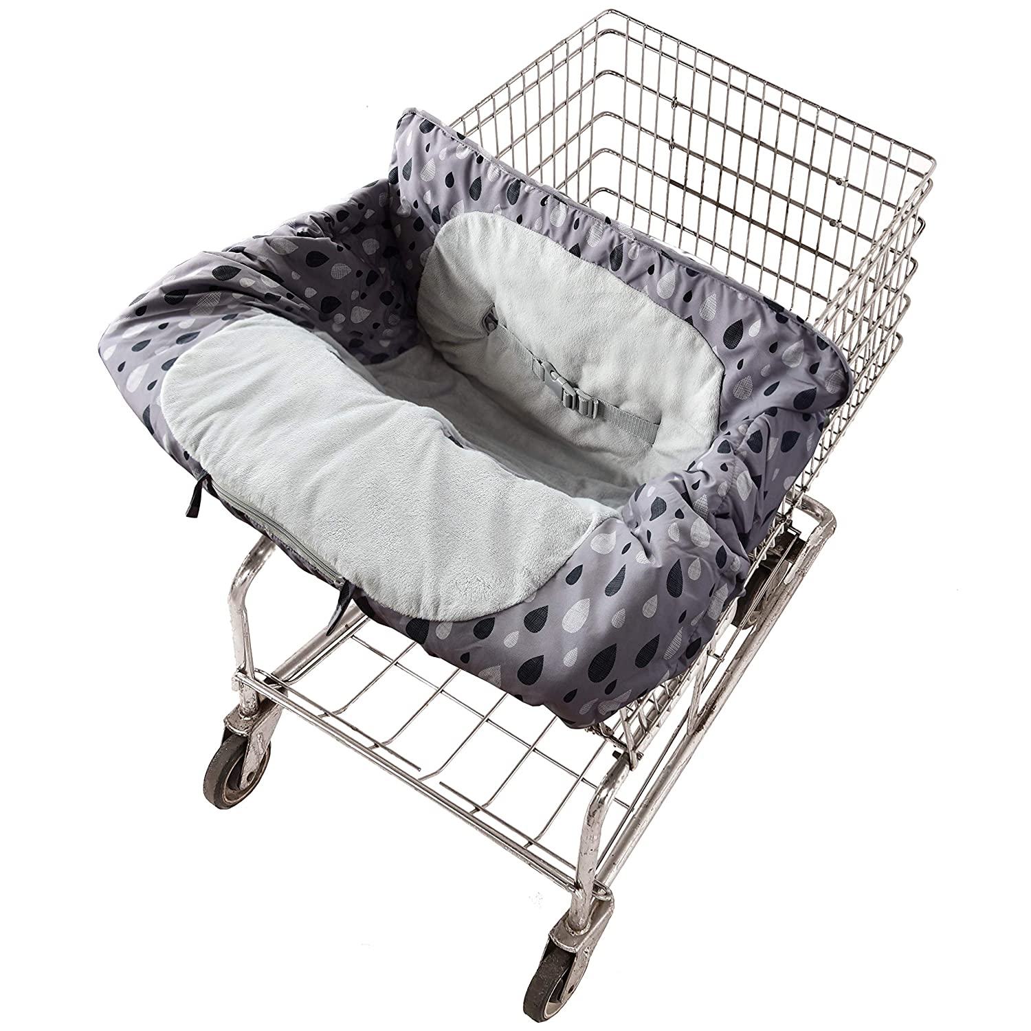 Travel Bug Baby & Toddler 2-in-1 Cozy Cover for Shopping Carts & High Chairs with Storage Bag, Universal Fit, Washable