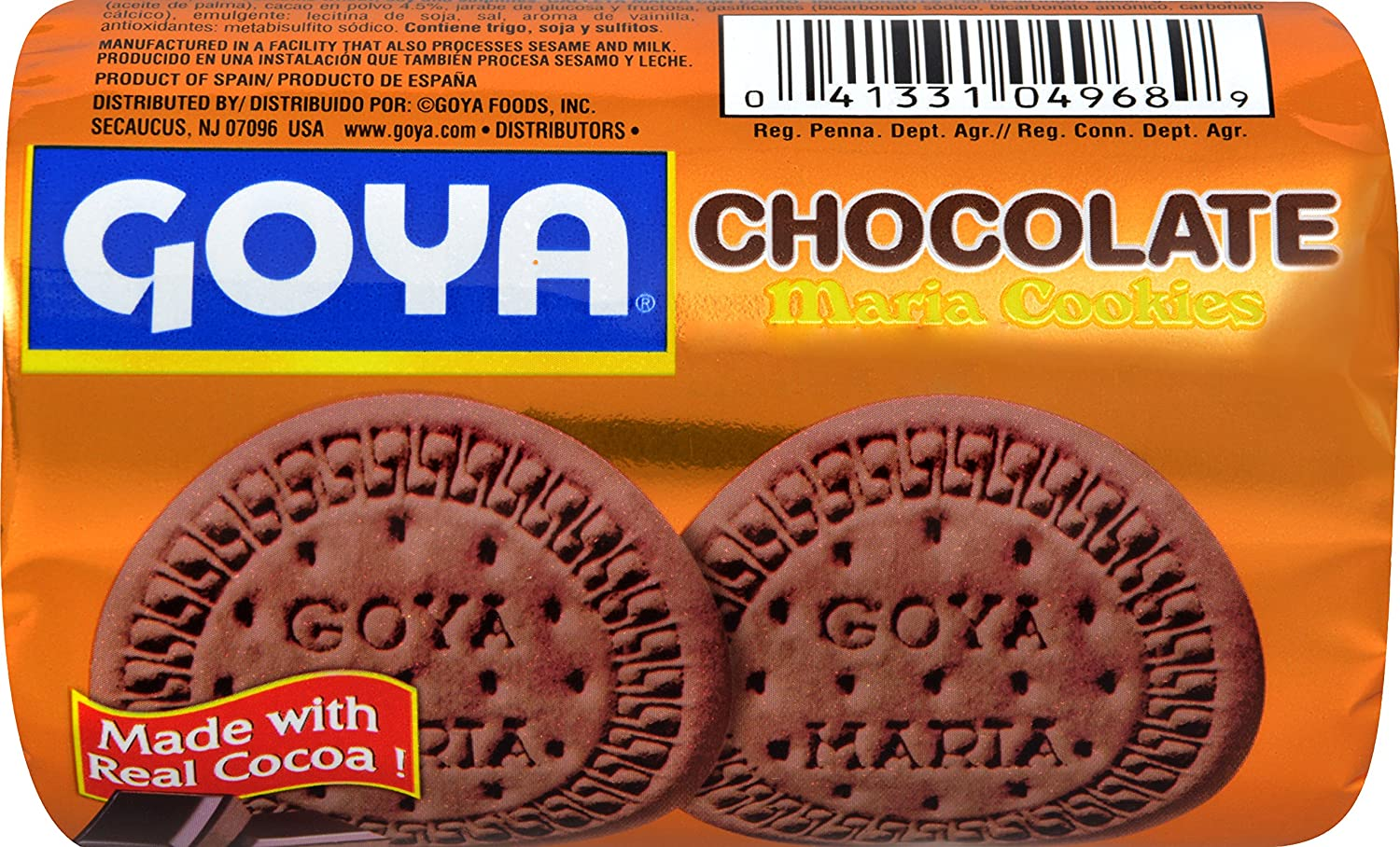 Amazon.com : Goya Foods Maria Cookies Chocolate, 3.5 Ounce (Pack of 32) : Grocery & Gourmet Food