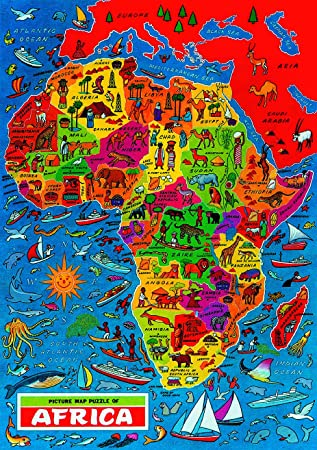 Grovely Map Jigsaw puzzle of Africa: Amazon.co.uk: Toys & Games