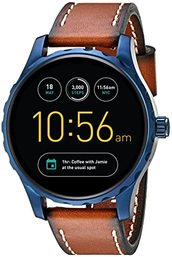 cdcb54e3c9 Image Unavailable. Image not available for. Color: Fossil Q Marshal Gen 2  Touchscreen Brown Leather Smartwatch