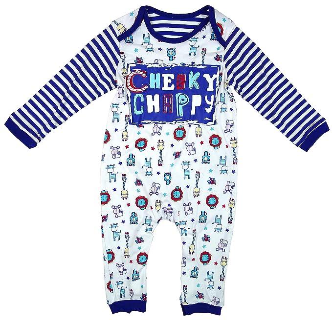 bebé De niño Travieso Chappy todo en un mameluco bebé Gro tallas Pequeño Bebé hasta 24