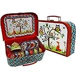 Woodland Animals Kids Tin Tea Set & Carry Case (14 piece Tea Set for Kids) Slimy Toad