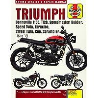 Triumph Bonneville T100, T120, Speedmaster, Bobber, Speed Twin, Thruxton, Street Twin, Cup & Scrambler 900 & 1200, '16…