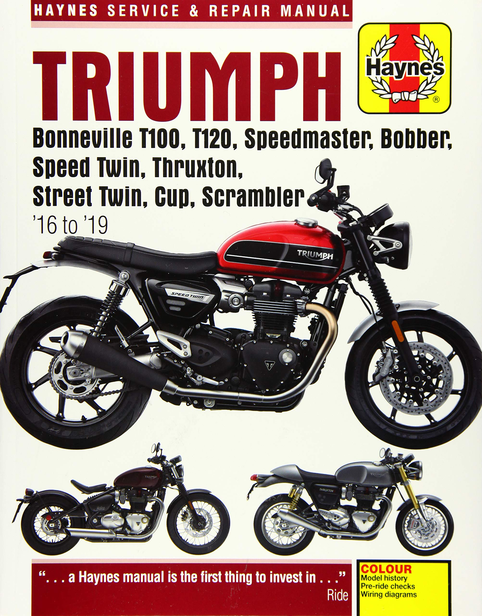 Triumph Bonneville T100 America Speedmaster 2001-2015 Haynes Manuell 4364 Neu