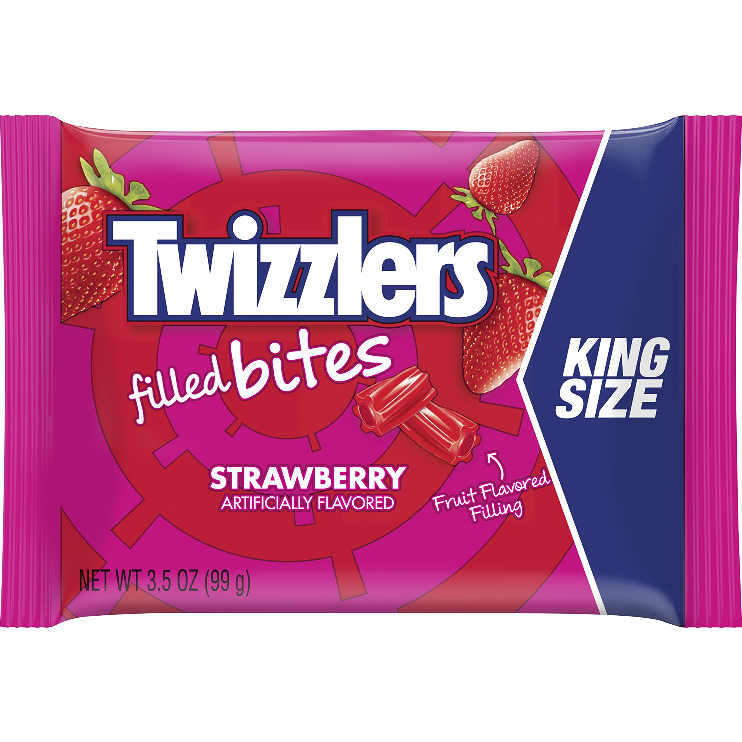 TWIZZLERS Licorice Candy, Strawberry, Filled Bites, 3.5 Ounce (Pack of 12) by Twizzlers