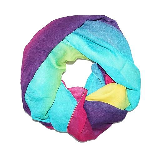 ManuMar Loop sciarpa colorata grandi colori! Loop sciarpa delle signore Nuovo! Bellissimi gradienti....