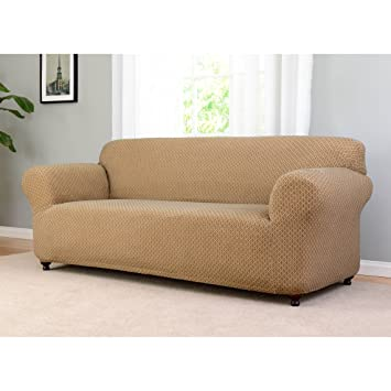 Amazoncom Sanctuary Galway Stretch Sofa Slipcover Neutral Home