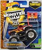 Hot Wheels Monster Jam 1:64 Scale Truck with Team Flag - El Toro Loco