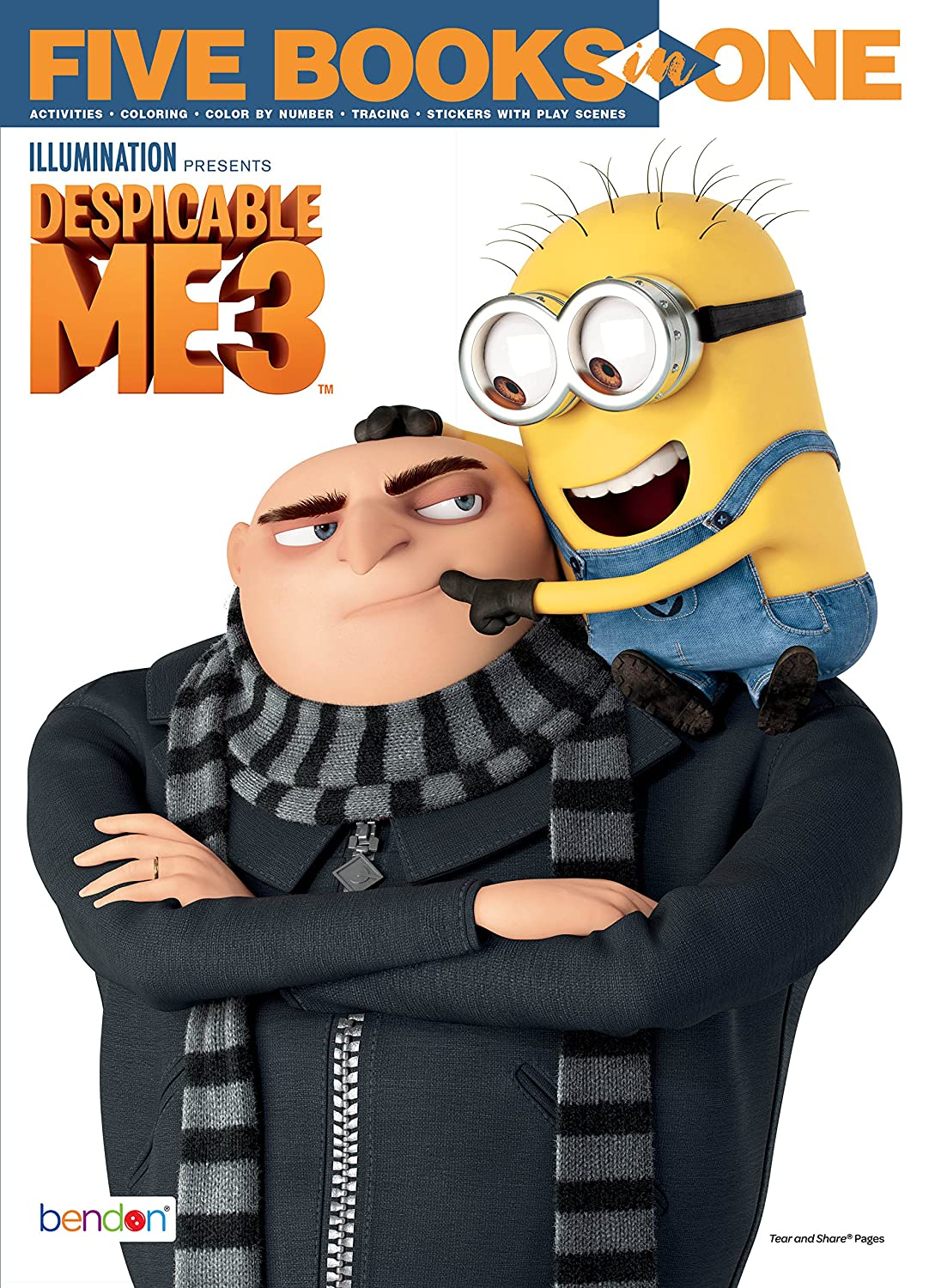 Despicable Me Bendon 41958 3 5-in-1 Coloring and Activity Book
