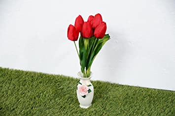 Buy Pindia Pvc Premium Artificial Flower Real Touch Mini Tulip Bud