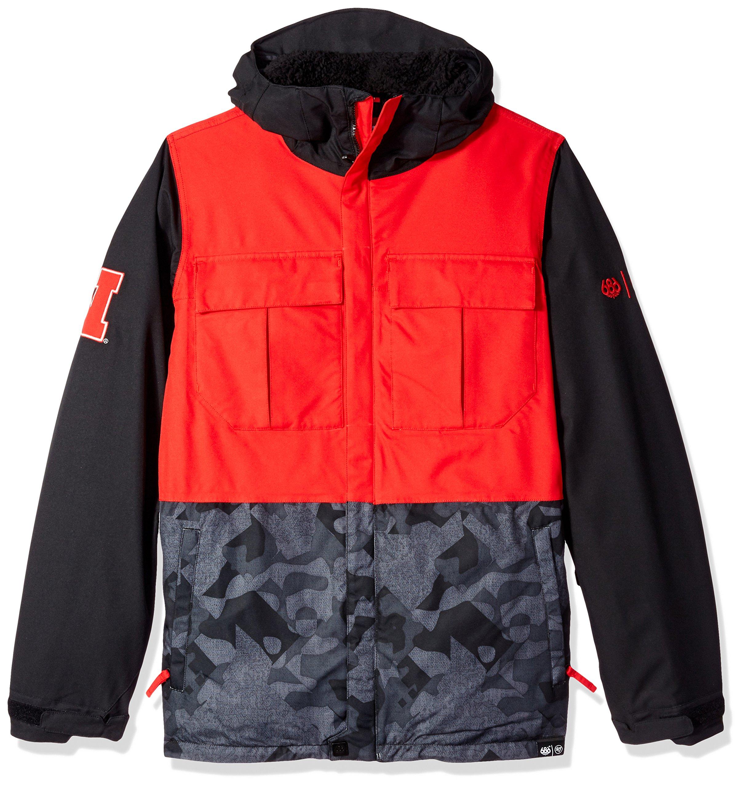 686x47 NCAA Nebraska Cornhuskers Men's Victory Insulated Jacket, Large, Nebraska Red